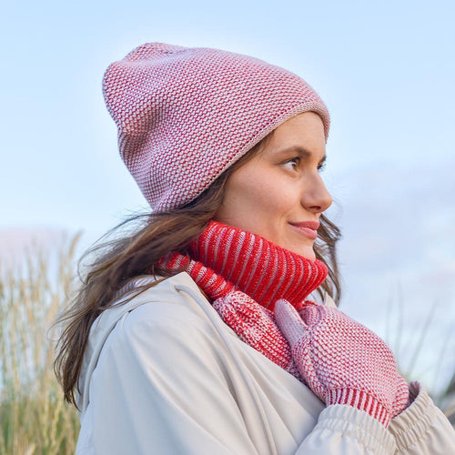 Knit Beanie - Ivory Pink-MIMOODS KNITS-HOUSE of BOTTA