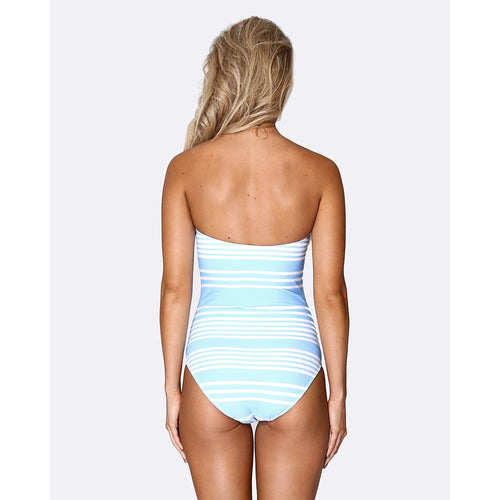 Lace up Deep Plunge One Piece - Tropical Punch-ALLERTON-HOUSE of BOTTA