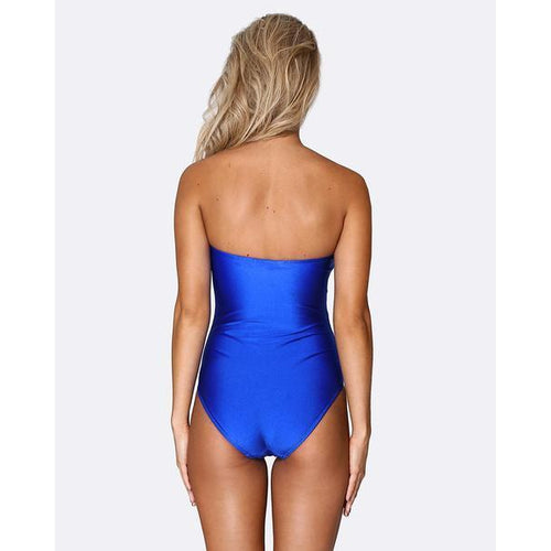 Lace up Deep Plunge One Piece - Ultramarine-ALLERTON-HOUSE of BOTTA