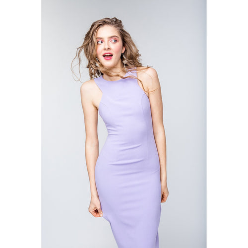 1abc2df4a6e Lavender Midi Length Bodycon Dress Friday Is Fr Love-OVER THE SEA-HOUSE of