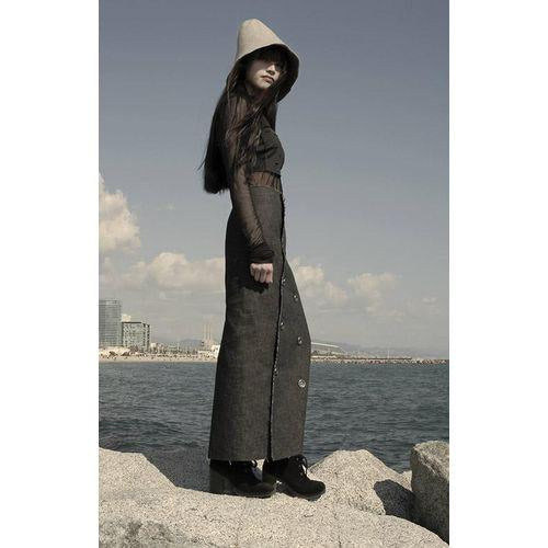 Long Denim Skirt-K M BY L A N G E-HOUSE of BOTTA