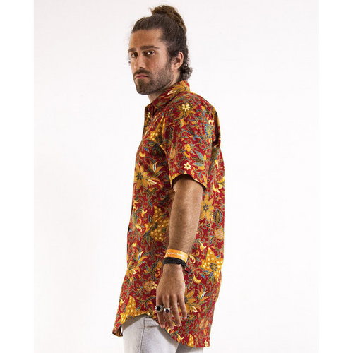 Men's Midi Length Short Sleeve Button Up-Men-HOUSE of BOTTA