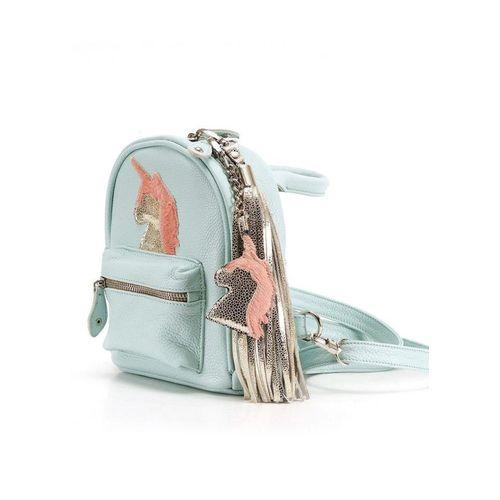 Mint Backpack-Clutch With Unicorn-OZERIANKO-HOUSE of BOTTA