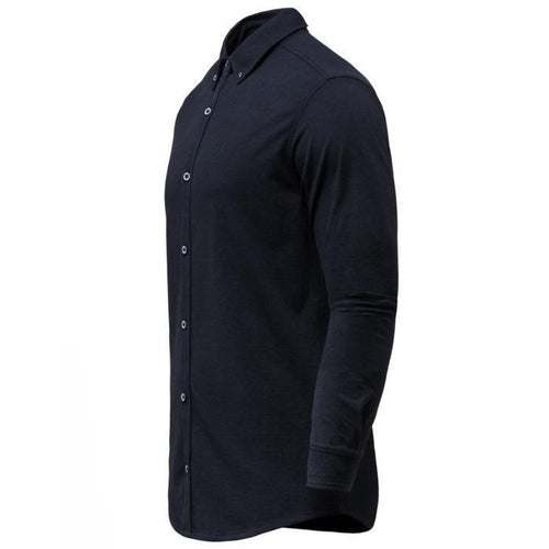 Navy Blue Cotton Pique Shirt – Traitors Valley-Men-HOUSE of BOTTA