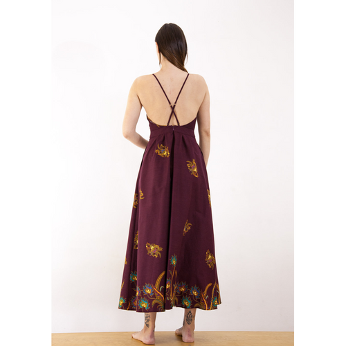 Open Back Maxi Dress with Pockets-rbbc-HOUSE of BOTTA
