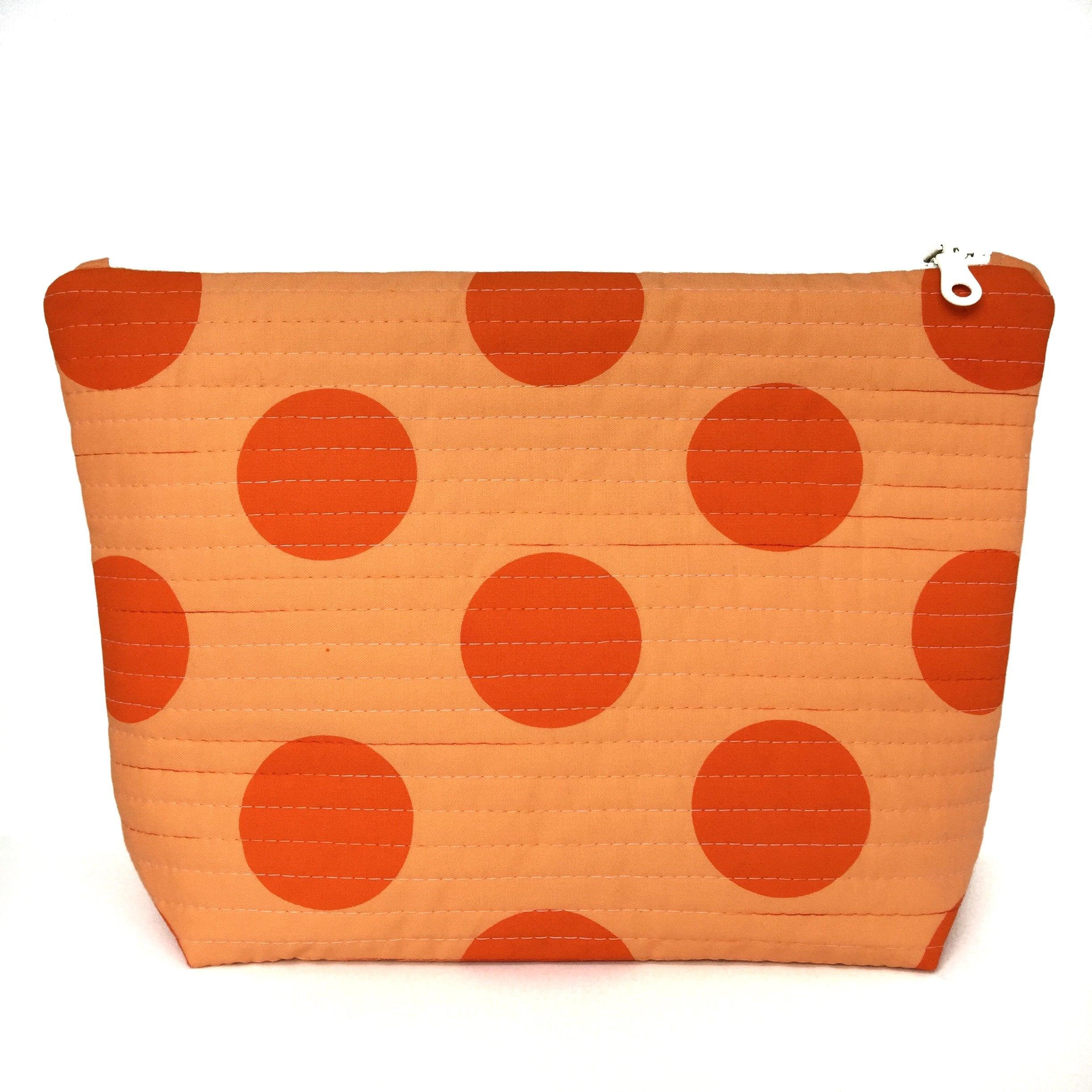 Orange Big Spot Large Makeup Bag-Lucy Engels-HOUSE of BOTTA