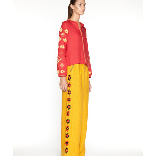 Ornament Blouse In Fiery Red-ORNAMENT-HOUSE of BOTTA