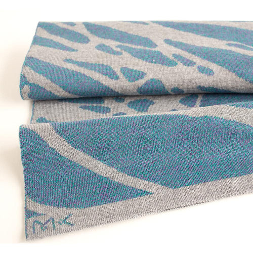Painted Tree Scarf - Blue and Grey Mouline-MIMOODS KNITS-HOUSE of BOTTA