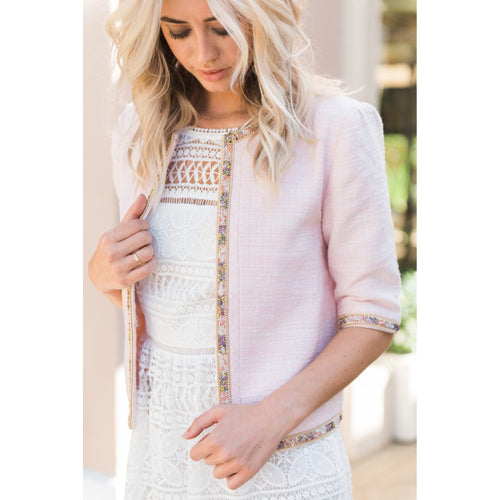 Palm Beach Blazer in Soft Pink-Charlotte London-HOUSE of BOTTA