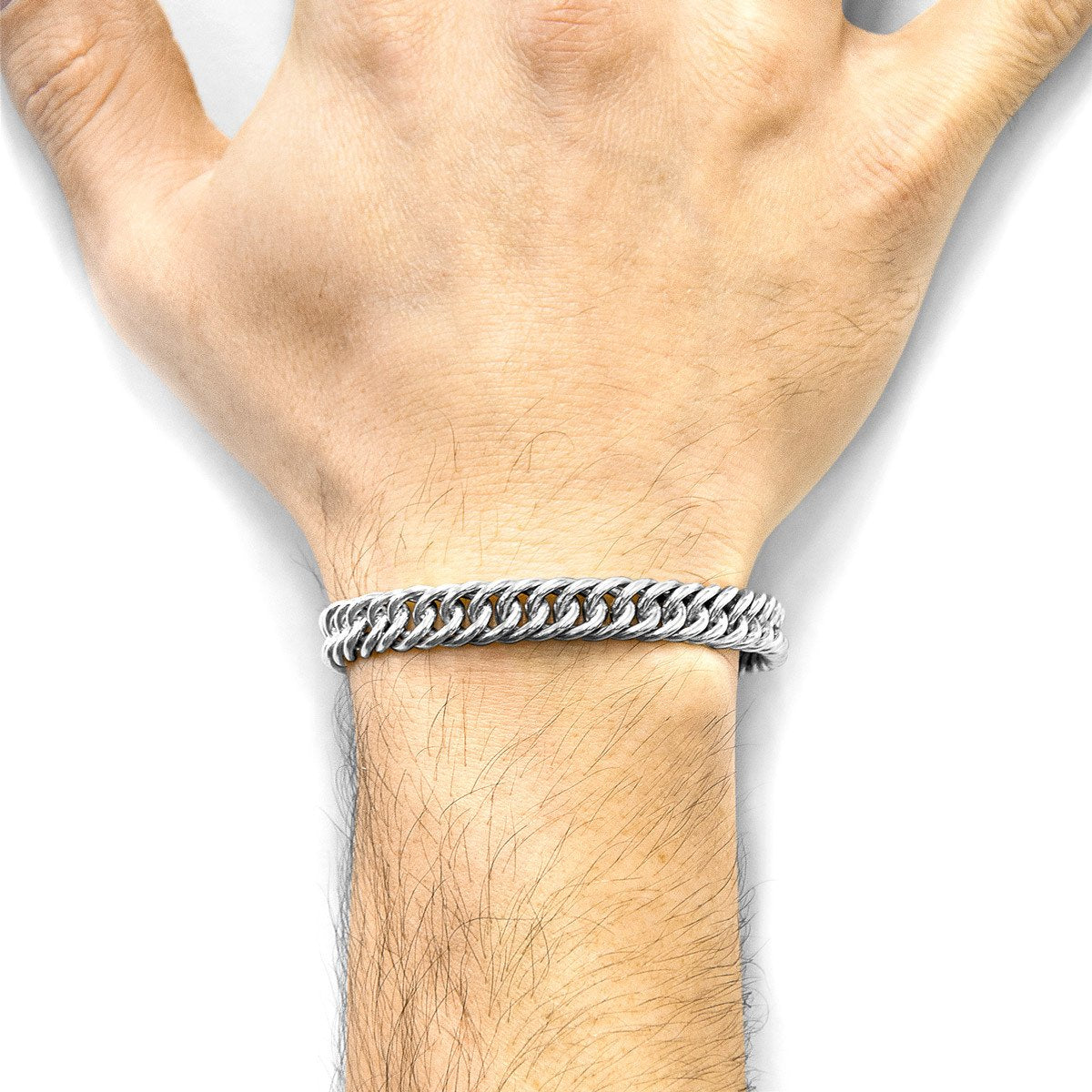 Pennant Sail Silver Chain Bangle-Men-HOUSE of BOTTA