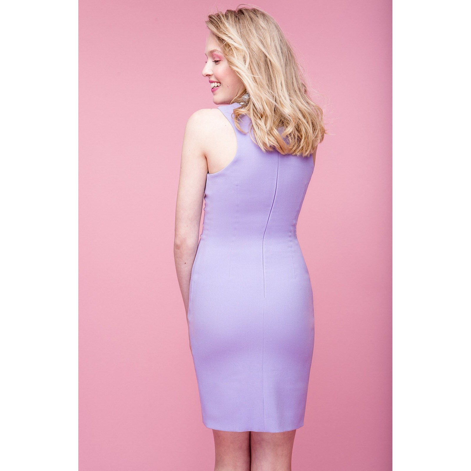 678c9244f6d Pink Short Bodycon Dress Friday Is For Love-OVER THE SEA-HOUSE of BOTTA