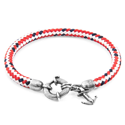 Union Anchor Mooring Silver Chain Bracelet