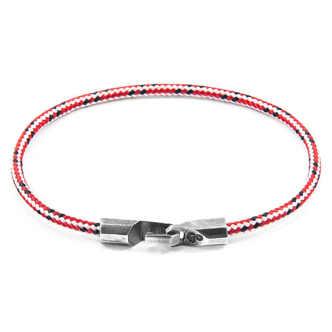 Red Dash Salcombe Silver And Rope Bracelet