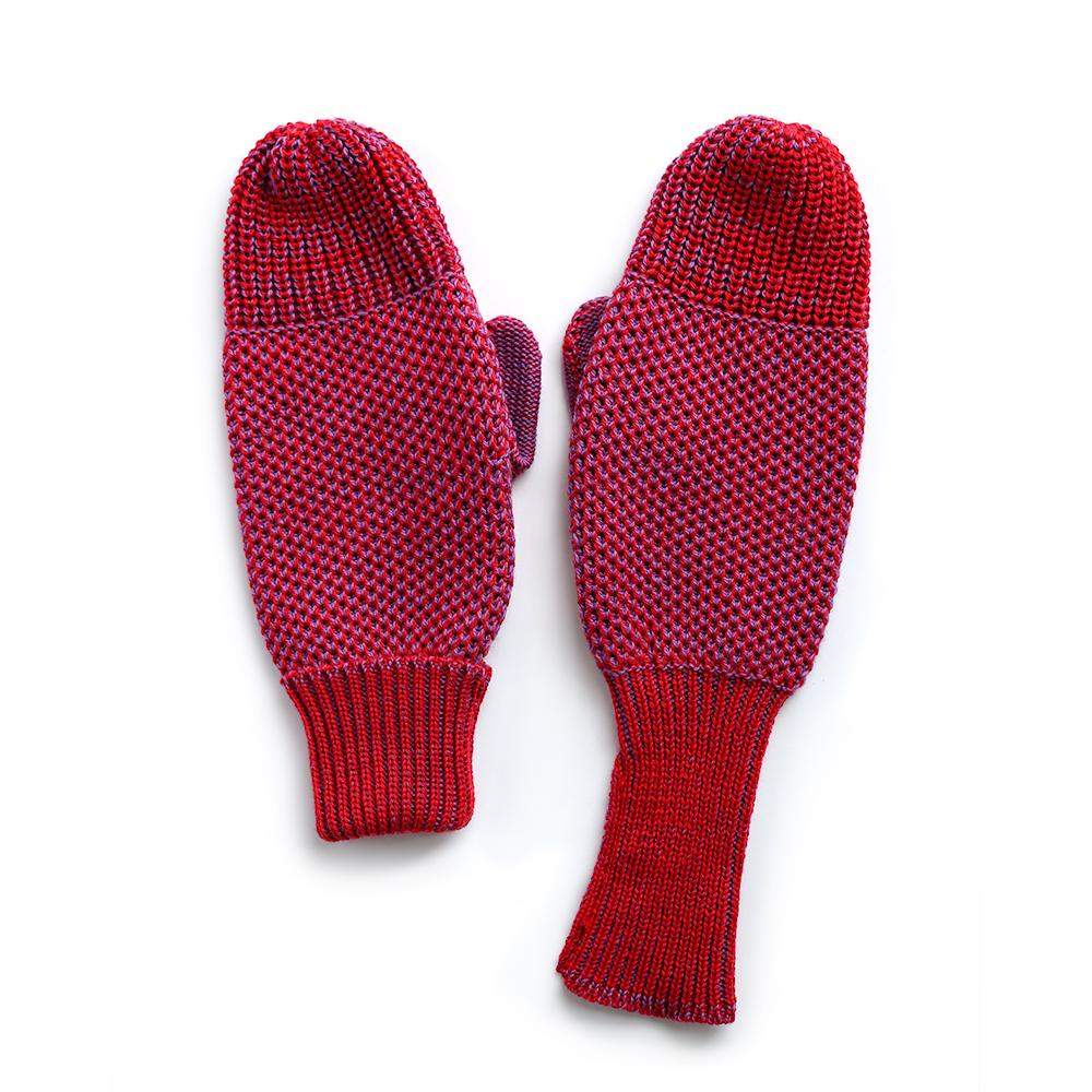 Red Knit Mittens-MIMOODS KNITS-HOUSE of BOTTA