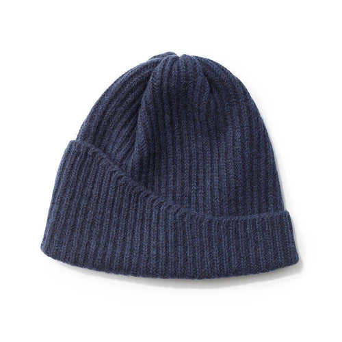 Reshaped Beanie Lambswool Blue-MIMOODS KNITS-HOUSE of BOTTA