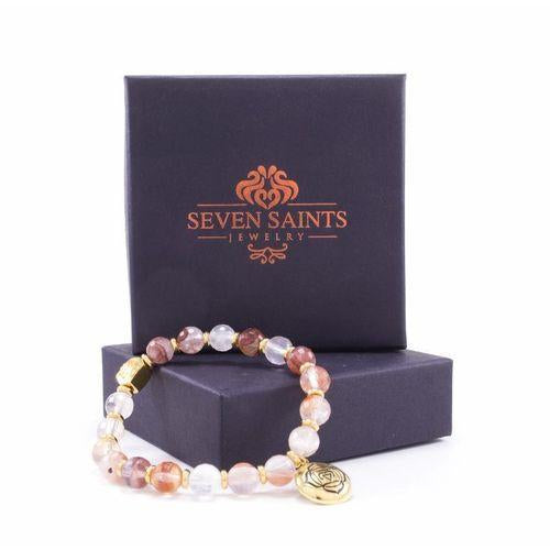 Root Chakra Activation Bracelet, Red Quartz 18K Gold-Seven Saints-HOUSE of BOTTA