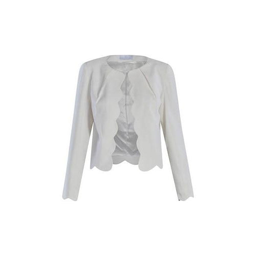 Scalloped Blazer in Bright White-Charlotte London-HOUSE of BOTTA