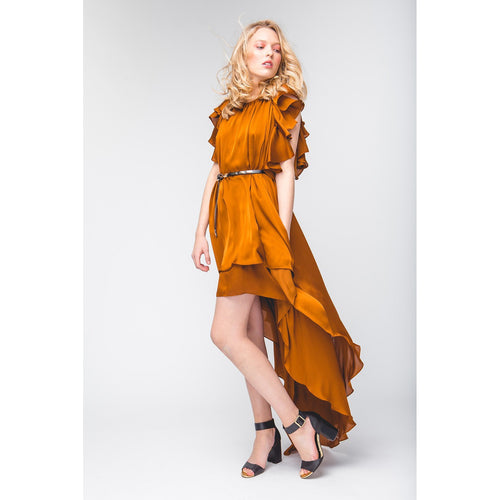 Silky Evening Dress Lucy's Sweet Dreams Copper-OVER THE SEA-HOUSE of BOTTA