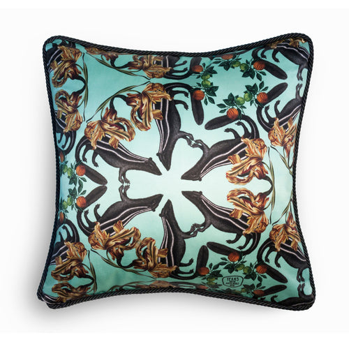 Skunk Silk And Velvet Cushion-Homeware-HOUSE of BOTTA