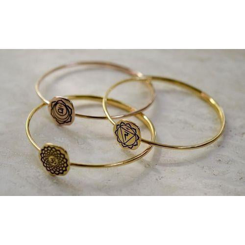 Solar Plexus Chakra Manipura Bangle, Rose Gold Vermeil *New Style-Seven Saints-HOUSE of BOTTA
