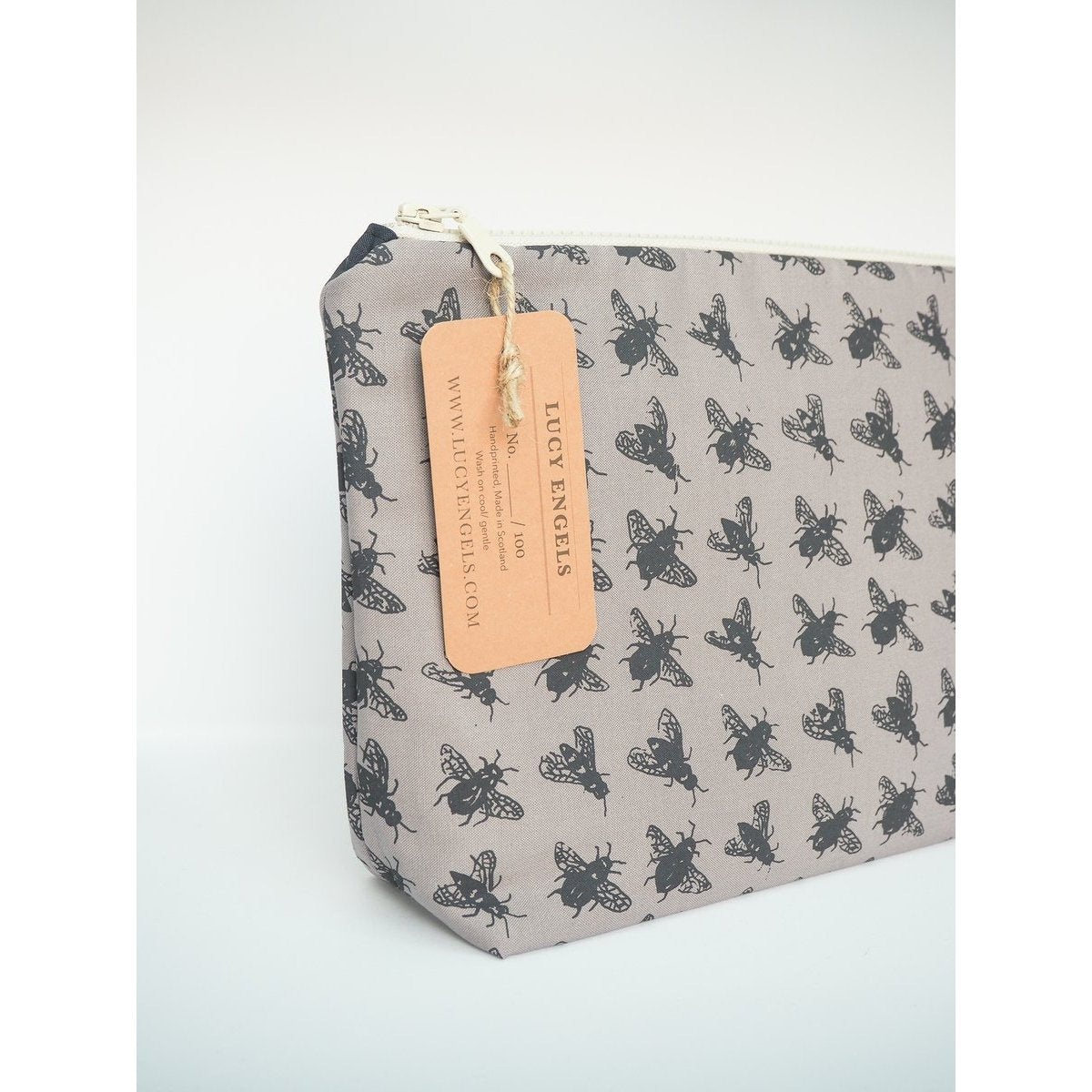 Stone Bee Bag - Large Makeup Bag-Lucy Engels-HOUSE of BOTTA