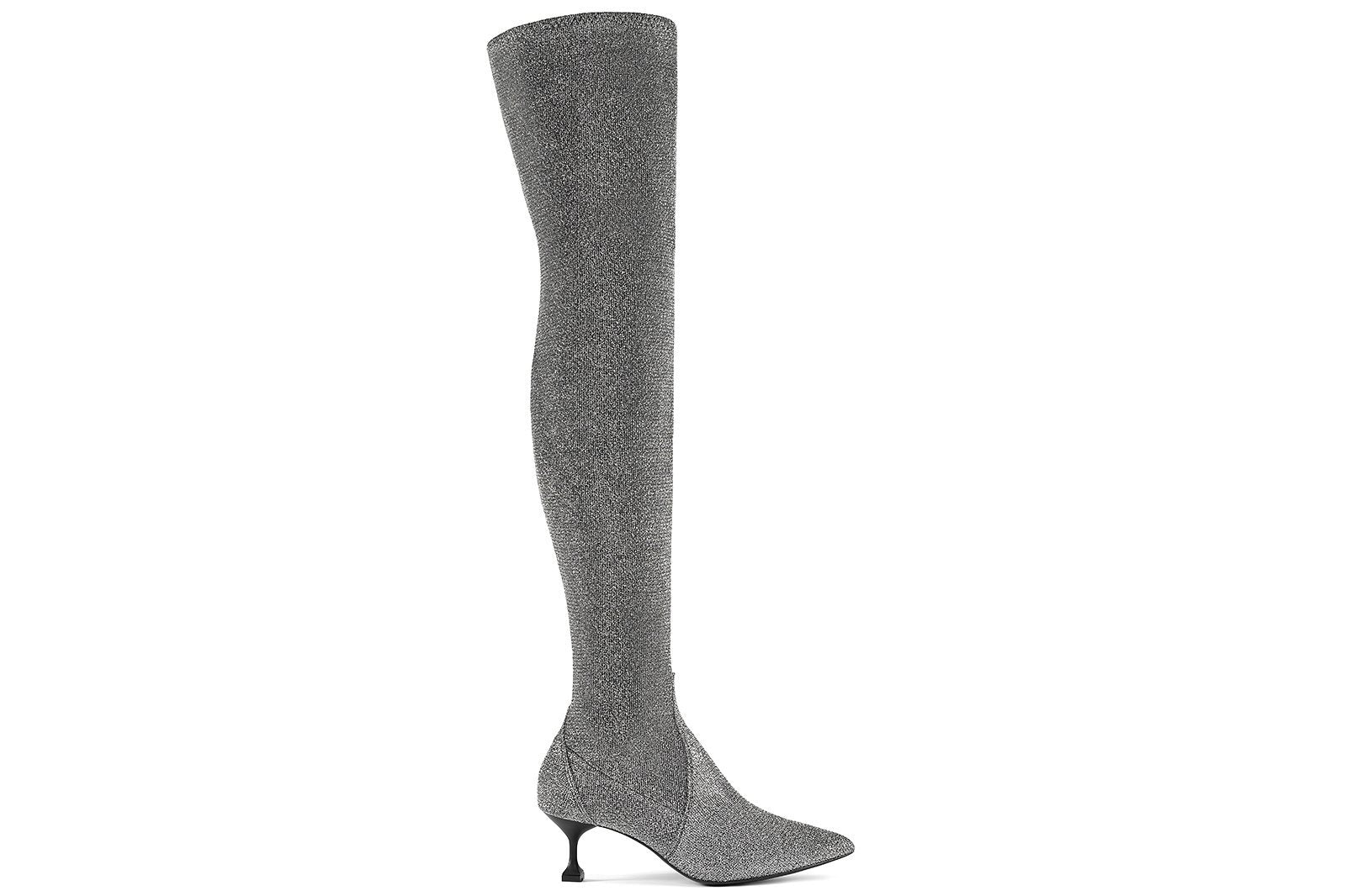 Stretchy Boots Grey-MARSALA-HOUSE of BOTTA