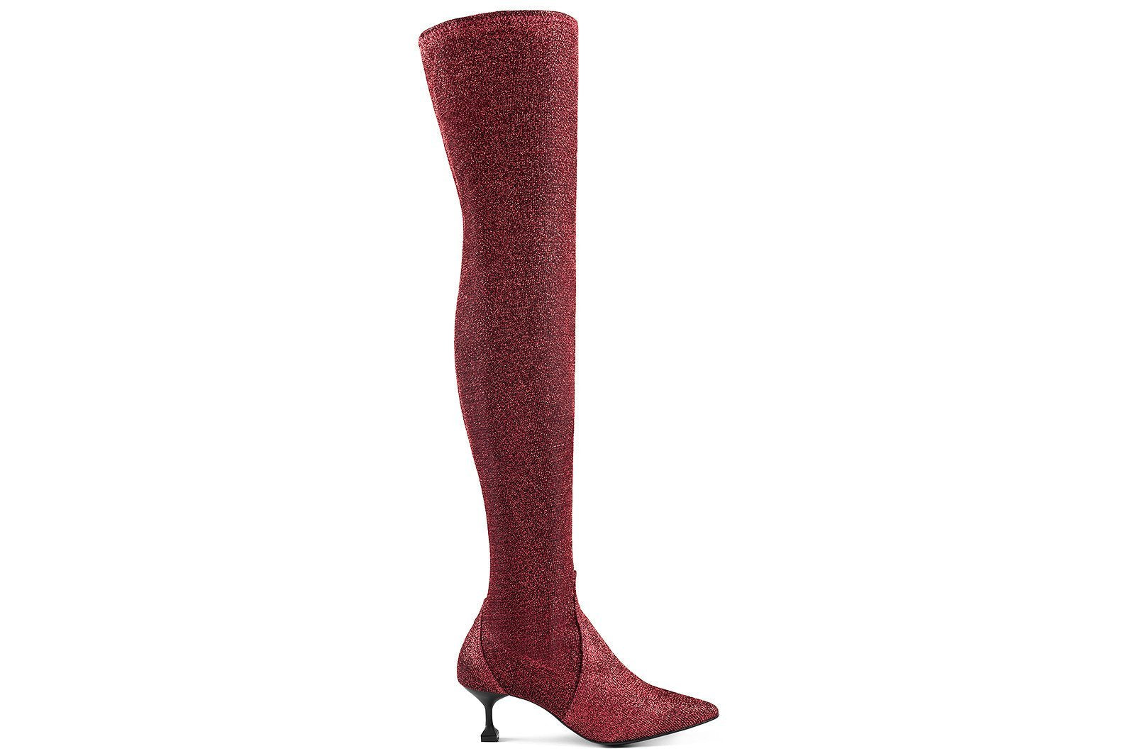 Stretchy Boots Red-MARSALA-HOUSE of BOTTA