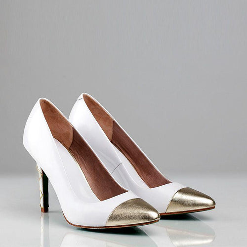SWIRL PUMP DETAIL (White) - Wide Fit-ARABEL MANNERS-HOUSE of BOTTA