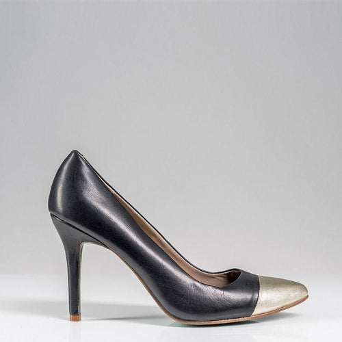 SWIRL PUMP PLAIN (Black) - Wide Fit-ARABEL MANNERS-HOUSE of BOTTA