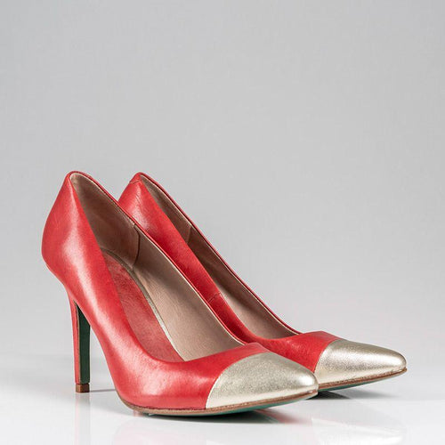 SWIRL PUMP PLAIN (RED) - Wide Fit-ARABEL MANNERS-HOUSE of BOTTA