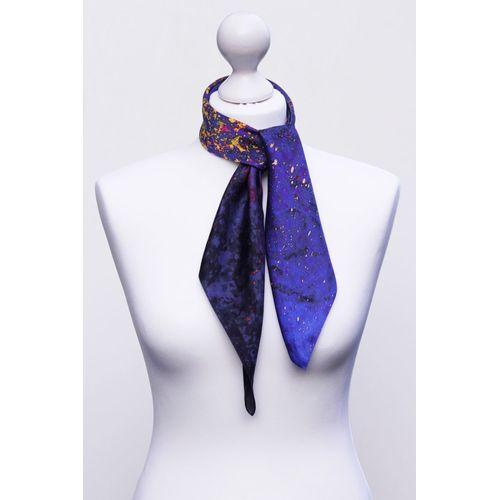 'The Flames In Darkness' Square Silk Scarf-Aithne - Art on Scarf-HOUSE of BOTTA