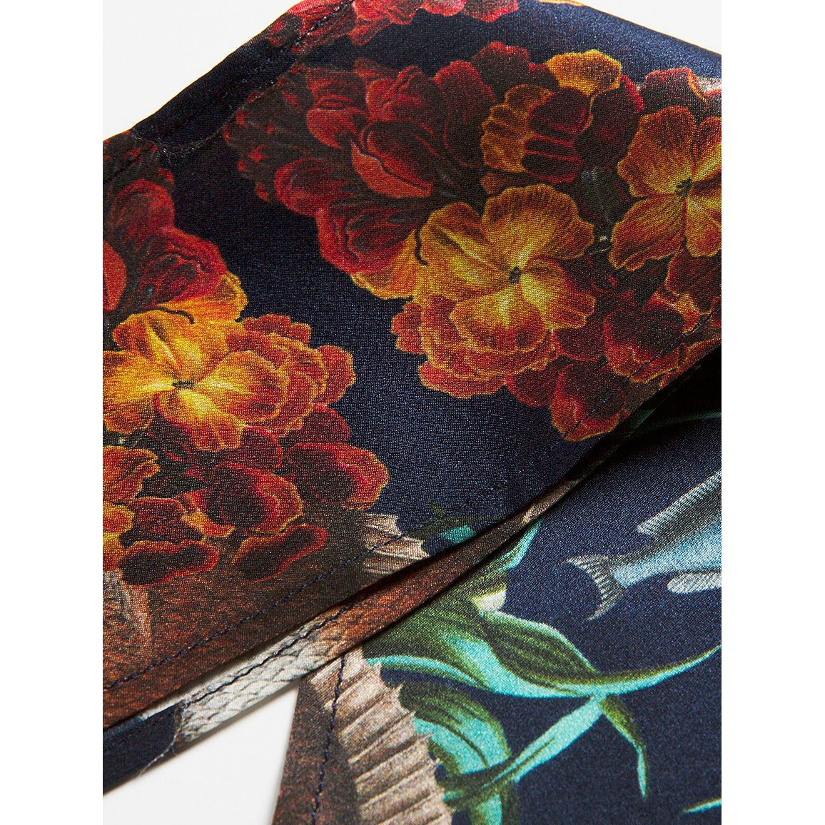 The Grocery Collection - Wallwlower Fish Skinny Silk Scarf-Texas and the Artichoke-HOUSE of BOTTA