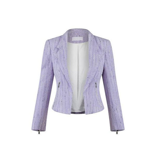 The Royal Jacket in Violet and Silver-Charlotte London-HOUSE of BOTTA