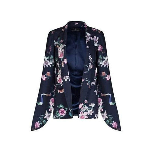 Tie Sleeve Kimono in Black-Charlotte London-HOUSE of BOTTA