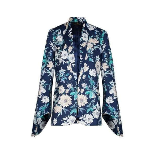 Tie Sleeve Kimono in Navy-Charlotte London-HOUSE of BOTTA