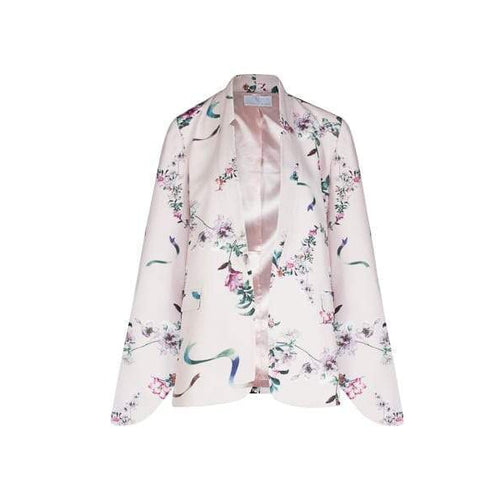 Tie Sleeve Kimono in Pink-Charlotte London-HOUSE of BOTTA
