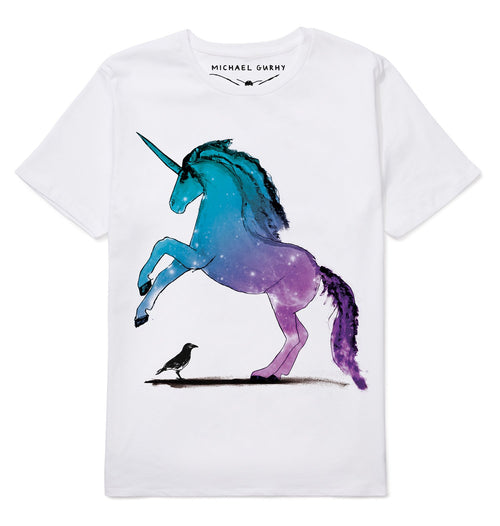 Unicorn and Crow T-Shirt-Men-HOUSE of BOTTA
