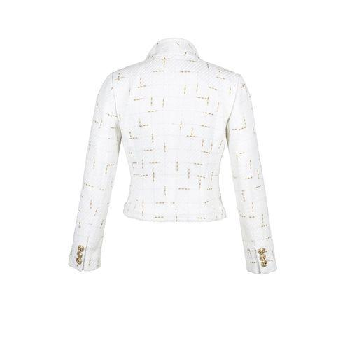 Waterfall Jacket In White And Gold-Charlotte London-HOUSE of BOTTA
