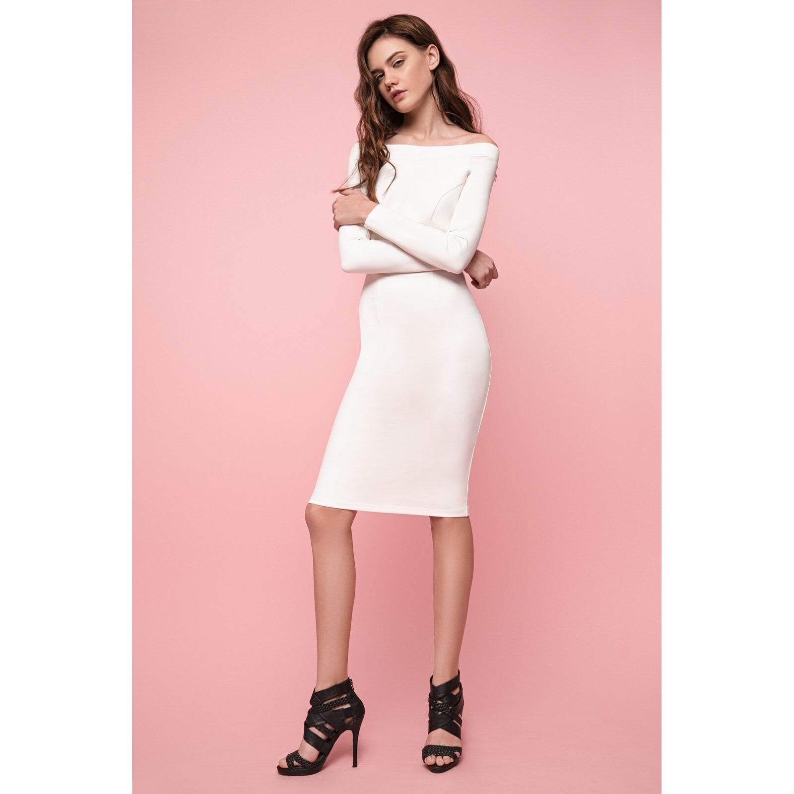 White Bodycon Dress The Way I Feel-OVER THE SEA-HOUSE of BOTTA