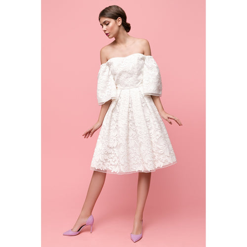 White Floral Organza dress I Can Be Your Cake-OVER THE SEA-HOUSE of BOTTA