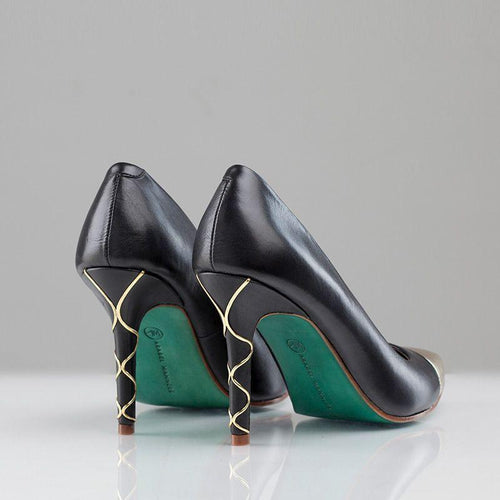 WIRL PUMP DETAIL (Black) - Wide Fit-ARABEL MANNERS-HOUSE of BOTTA