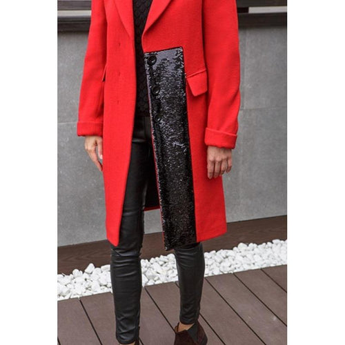 Wool Coat With Sequins-QUALITAS-HOUSE of BOTTA