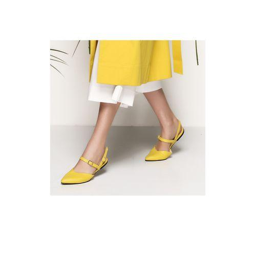 Yellow Leather Ballets-VONA-HOUSE of BOTTA