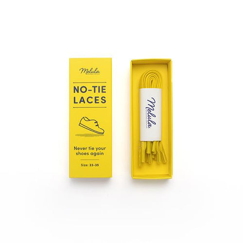 Yellow No-Tie Laces-Kids-HOUSE of BOTTA