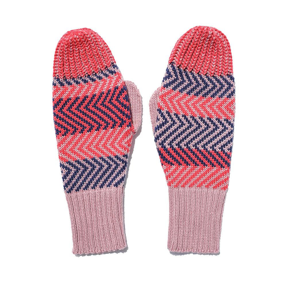 Zig Zag Striped Mittens-MIMOODS KNITS-HOUSE of BOTTA