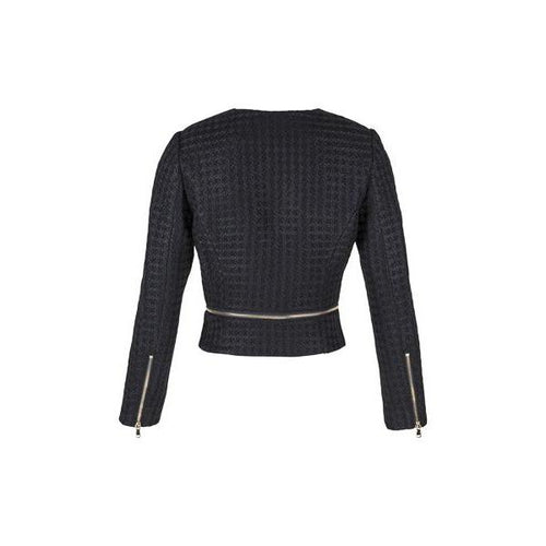 Zip Off Jacket in Jet Black-Charlotte London-HOUSE of BOTTA