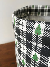 Buffalo Plaid Christmas Tree Project Bag Drawstring Project Bag