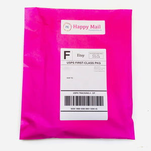 hot pink poly mailers is how your purchases look when they arrive
