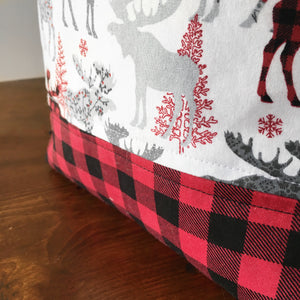 Christmas Buffalo Check Drawstring Project Bag