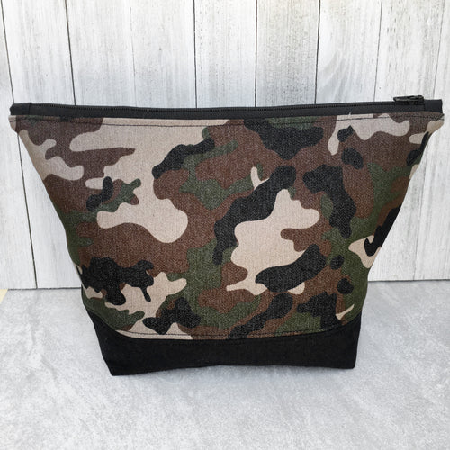 Camouflage Zippered Project Bag